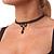 Black Acrylic Bead Flex Gothic Choker - view 3