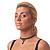 Black Acrylic Bead Flex Gothic Choker - view 4