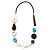 Butterfly Leather Cord Necklace -76cm Length - view 4