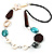 Butterfly Leather Cord Necklace -76cm Length