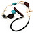 Butterfly Leather Cord Necklace -76cm Length - view 5