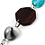 Butterfly Leather Cord Necklace -76cm Length - view 6