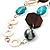 Butterfly Leather Cord Necklace -76cm Length - view 7