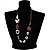 Butterfly Leather Cord Necklace -76cm Length - view 3