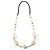 Romantic White Butterfly Leather Cord Long Necklace -80cm Length - view 5