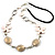 Romantic White Butterfly Leather Cord Long Necklace -80cm Length - view 2