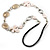 Romantic White Butterfly Leather Cord Long Necklace -80cm Length - view 6