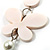 Romantic White Butterfly Leather Cord Long Necklace -80cm Length - view 3
