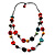 2 Strand Wood Bead Cotton Cord Necklace (Multicoloured) - 78cm - view 2