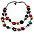 2 Strand Wood Bead Cotton Cord Necklace (Multicoloured) - 78cm - view 4