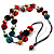 2 Strand Wood Bead Cotton Cord Necklace (Multicoloured) - 78cm - view 6