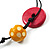 2 Strand Wood Bead Cotton Cord Necklace (Multicoloured) - 78cm - view 8