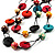 2 Strand Wood Bead Cotton Cord Necklace (Multicoloured) - 78cm - view 3