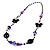 Long Romantic Butterfly Bead Necklace - 88cm Length - view 5