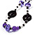 Long Romantic Butterfly Bead Necklace - 88cm Length - view 7