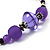 Long Romantic Butterfly Bead Necklace - 88cm Length - view 9