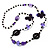 Long Romantic Butterfly Bead Necklace - 88cm Length - view 4