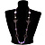 Long Romantic Butterfly Bead Necklace - 88cm Length - view 10
