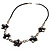 Delicate Shell Floral Leather Cord Necklace - 62cm Length - view 8
