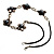 Delicate Shell Floral Leather Cord Necklace - 62cm Length - view 6
