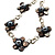 Delicate Shell Floral Leather Cord Necklace - 62cm Length - view 3