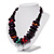 Multicoloured Chunky Wood Bead Cotton Cord Necklace - 44cm - view 10