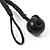 Chunky Beaded Cotton Cord Necklace (Black & Orange) - 64cm L - view 6