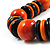 Chunky Beaded Cotton Cord Necklace (Black & Orange) - 64cm L - view 5