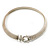 Silver Tone Mesh 'Buckle' Choker Necklace - view 3