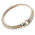 Silver Tone Mesh 'Buckle' Choker Necklace - view 10