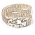Silver Tone Mesh 'Buckle' Choker Necklace - view 9