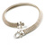 Silver Tone Mesh 'Buckle' Choker Necklace - view 12