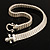 Silver Tone Mesh 'Buckle' Choker Necklace - view 6