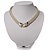Silver Tone Mesh 'Buckle' Choker Necklace - view 15