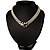 Silver Tone Mesh 'Buckle' Choker Necklace - view 2