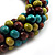 Chunky Multicoloured Wood Bead Cotton Cord Necklace - 68cm Length - view 3