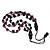 Long Multistrand Purple/Black Wood Bead Cotton Cord Necklace - 80cm Length - view 5