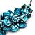Stunning Teal Blue Shell-Composite Leather Cord Necklace - 50cm Length - view 4