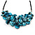 Stunning Teal Blue Shell-Composite Leather Cord Necklace - 50cm Length - view 2