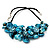 Stunning Teal Blue Shell-Composite Leather Cord Necklace - 50cm Length - view 9