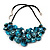 Stunning Teal Blue Shell-Composite Leather Cord Necklace - 50cm Length - view 7