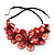 Stunning Brick Red Shell-Composite Leather Cord Necklace - 50cm Length