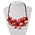 Stunning Brick Red Shell-Composite Leather Cord Necklace - 50cm Length - view 1