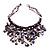 Purple Shell-Composite Bib Necklace - 34cm Length - view 6