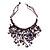Purple Shell-Composite Bib Necklace - 34cm Length