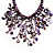 Purple Shell-Composite Bib Necklace - 34cm Length - view 3