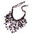 Purple Shell-Composite Bib Necklace - 34cm Length - view 8