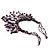 Purple Shell-Composite Bib Necklace - 34cm Length - view 9
