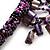 Purple Shell-Composite Bib Necklace - 34cm Length - view 4