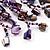 Purple Shell-Composite Bib Necklace - 34cm Length - view 7